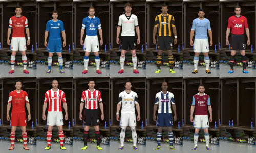 PES 2014 English Premier League Kits Pack 13/14