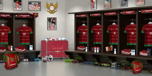 PES 2014 Indonesia Locker Room by Nugrahaji