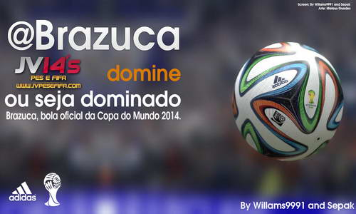 FIFA 14 Brazuca Ball Adidas World Cup 2014 by Willams991&Sepak