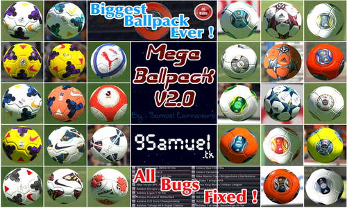 Mega Ballpack v2.0 For PES 2014 by Samuel Cannavaro Ketuban Jiwa