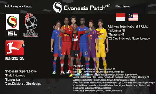 PES 2014 Evonesia Patch v1.0 (Indonesia Super League-ISL) Ketuban Jiwa