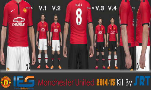 PES 2014 Manchester United 14-15 Kit by SRT Download Link Ketuban Jiwa