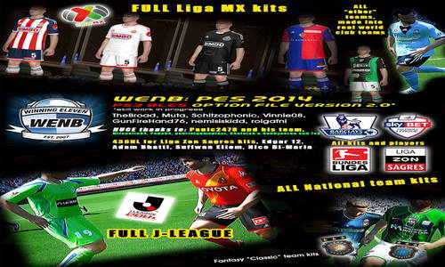PES 2014 WENB Option File For PS3 v2+v2.2 Ketuban Jiwa