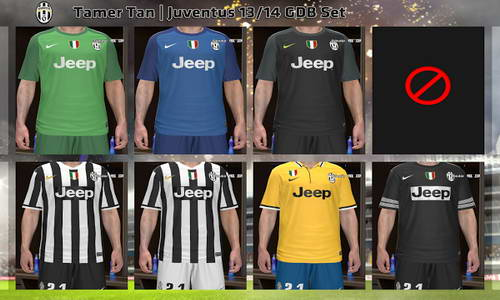 PES 2014 Juventus FC GDB Kits Set 13-14 by Tamer Tan Ketuban Jiwa