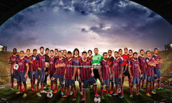 PES 2014 Menu Graphic Barcelona by Silveriinha Ketuban Jiwa