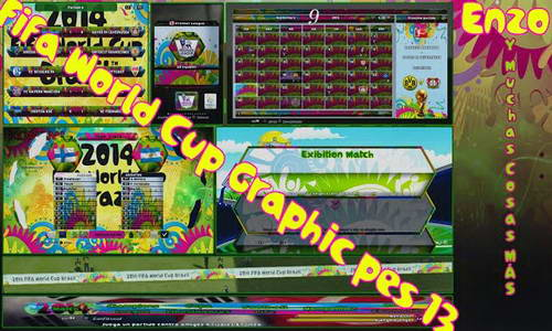 PES 2013 World Cup 2014 Graphic Pack by Gamer Enzo Ketuban Jiwa