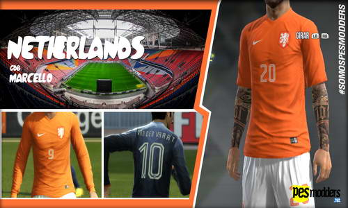 PES 2013 World Cup 2014 National Team Kitspack by Marcello Ketuban Jiwa