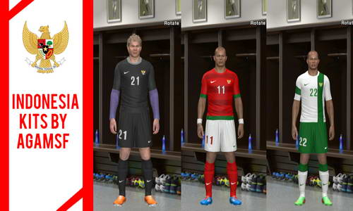 PES 2014 Indonesia National Team Kitspack by Agamsf