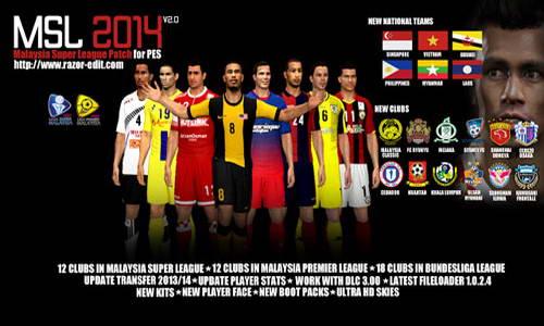 PES 2014 MSL Malaysia Super League Patch Update 3.1+3.2+3.3+3.4 Ketuban Jiwa