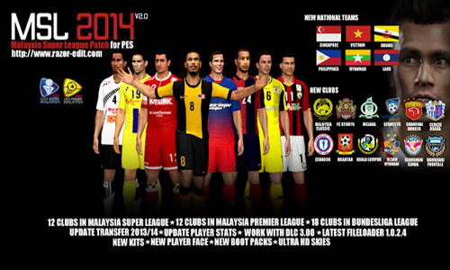 PES 2014 MSL Malaysia Super League Patch Update 3.1+3.2+3.3+3.4 Ketuban Jiwa