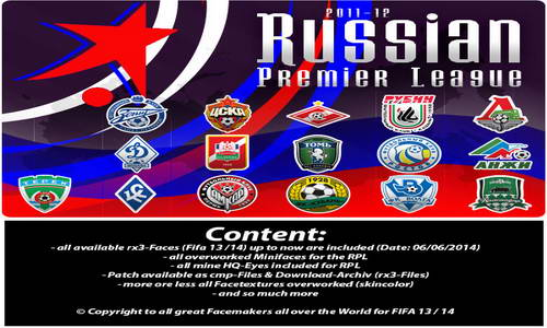 FIFA 14 Russian Premier League (RPL) Mega Facepack by Stuphan_75 Ketuban Jiwa