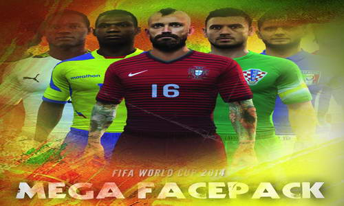 FIFA 14 World Cup 2014 Mega Facepack by Simo4u&Guarin91