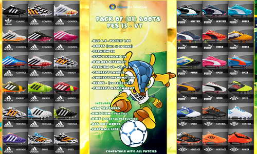 PES 2013 Pack of (81) Boots v7 FIFA WC14 by Nilton1248