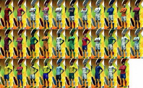 PES 2013 World Cup 2014 All National Team Kits Pack by NS08 Ketuban jiwa