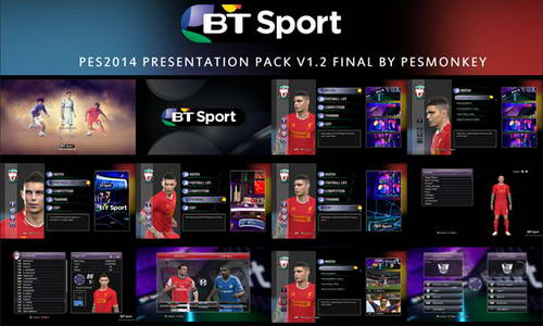 PES 2014 BT Sport Presentation Pack v1.2 by Pesmonkey Ketuban Jiwa