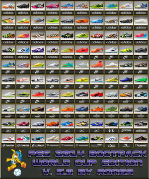 PES 2014 Bootpack World Cup Edition v5.0 HD by Ron69 Ketuban Jiwa