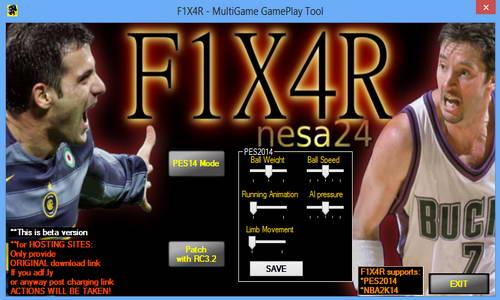 PES 2014 Final Version Gameplay Tools by nesa24 Ketuban Jiwa