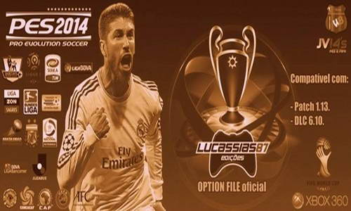 PES 2014 Option File XBOX360 Update 03-06-14 by Lucassias Ketuban Jiwa