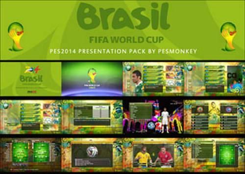 PES 2014 World Cup 2014 Presentation Pack By Pesmonkey Ketuban Jiwa