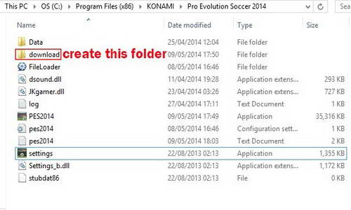 How to use PES 2014 Patch 1.13&1.16 With Fileloader 1.2.0.9 by Hawke