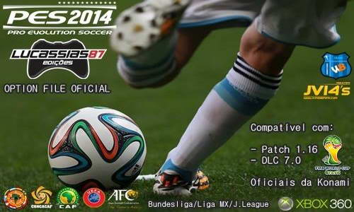 PES 2014 Option File XBOX360 Tempo Real by Lucassias87 Ketuban Jiwa