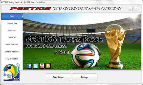 PES 2014 PESTIGS Tuning Patch 4.1.1 Fix Selector Bugs WC14 Ketuban Jiwa