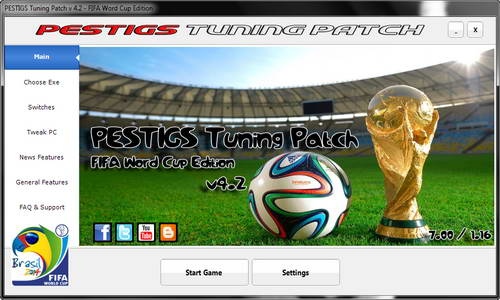 PES 2014 PESTIGS Tuning Patch 4.2 WC14 (DLC 7.00+1.16)