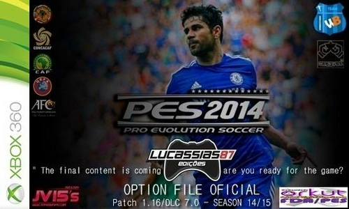 PES 2014 Option File XBOX360 (18/08/14) by Lucassias87