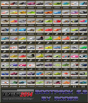 PES 2014 Boots Pack Version 6.0 by Ron69 Ketuban Jiwa