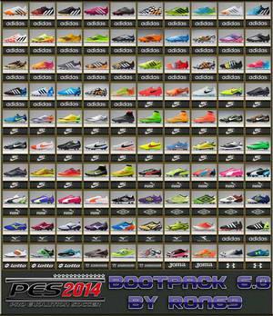 PES 2014 Boots Pack Version 6.0 by Ron69 Ketuban Jiwa