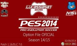 PES 2014 Option File XBOX360 (02/09/14) by Lucassias87 Ketuban Jiwa
