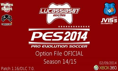 PES 2014 Option File XBOX360 (02/09/14) by Lucassias87 Ketuban Jiwa