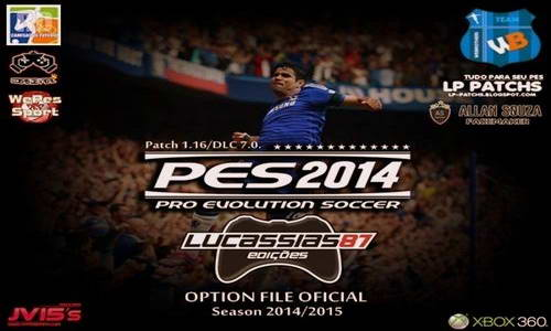 PES 2014 XBOX360 Option File Update 14-09-14 by Lucassias87 Ketuban Jiwa