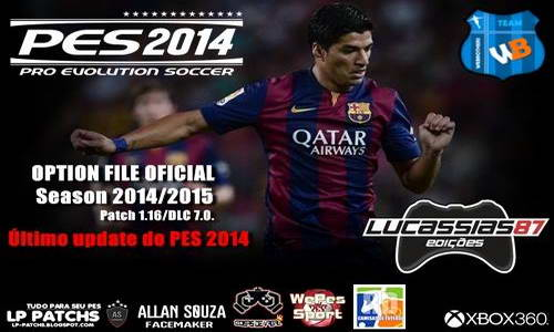 PES 2014 XBOX360 Option File Update 25-09-14 by Lucassias87 Ketuban Jiwa