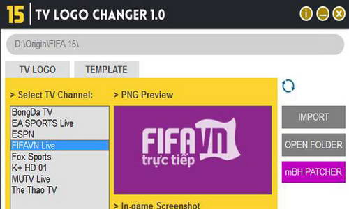 FIFA 15 TV Logo Changer Updated v1.3 by MonkeyDragon