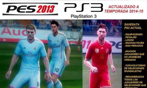 PES 2013 PS3 Option File European Version Patch Season 14-15 Ketuban Jiwa