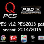 PES 2013 QPES Patch v12 Season 2014/2015 Multi Link