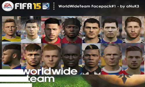 FIFA 15 Facepack 1 WorldWide Team by Anuk3 Ketuban Jiwa