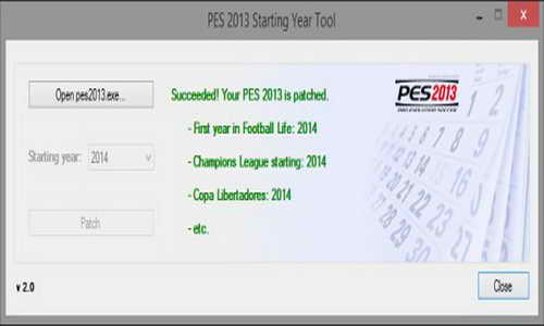 PES 2013 Starting Year Tool v2.0 Season 14/15 by Zaga14