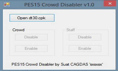 PES 2015 Crowd Disabler v1.0 Performance Tool by sxsxsx Ketuban Jiwa