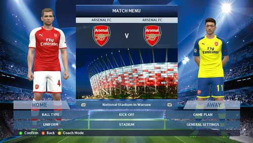 PES 2015 English Premier League EPL Kits v1 by WojtaZ Ketuban Jiwa Arsenal