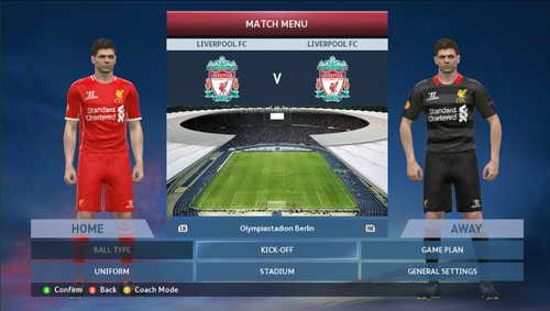 PES 2015 English Premier League EPL Kits v1 by WojtaZ Ketuban Jiwa Liverpool