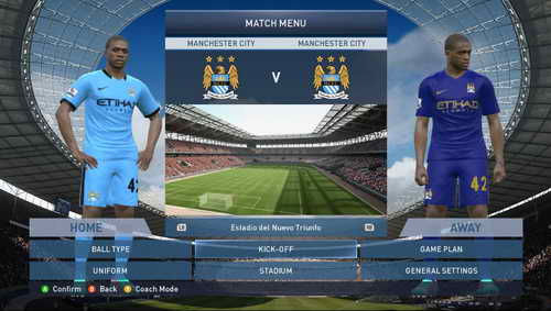 PES 2015 English Premier League EPL Kits v1 by WojtaZ Ketuban Jiwa Manchester City