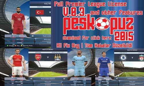 PES 2015 PESKopuz Patch v0.3 Team Errors Corrected