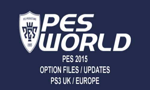 PES 2015 PS3 PESWorld Option File Update v1.0 (23/11/14)