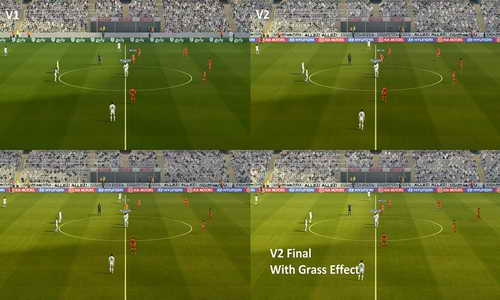 PES 2013 Turf Texture v2+Grass Effect PES 2015 by Fruits