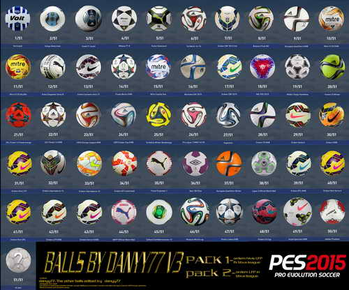 PES 2015 Ballspack HD Update v.3 by Danyy77 Ketuban Jiwa