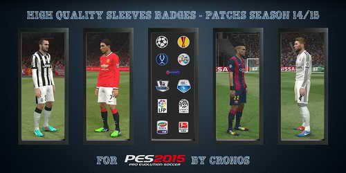 PES 2015 HQ Sleeves Badges Patch 2014/2015 by Cronos