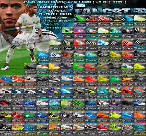PES 2015 New Bootpack HD (100 Boots) v1.0 by SGangster