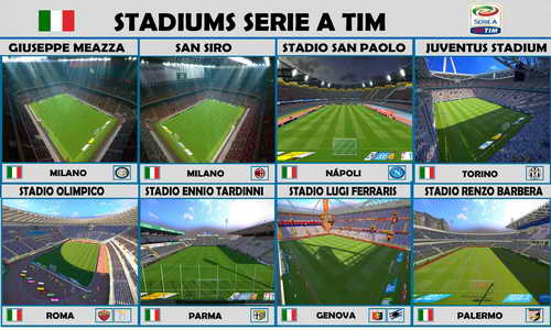 PES 2015 New 26 Stadiums Pack Update v2 by Estarlen Silva